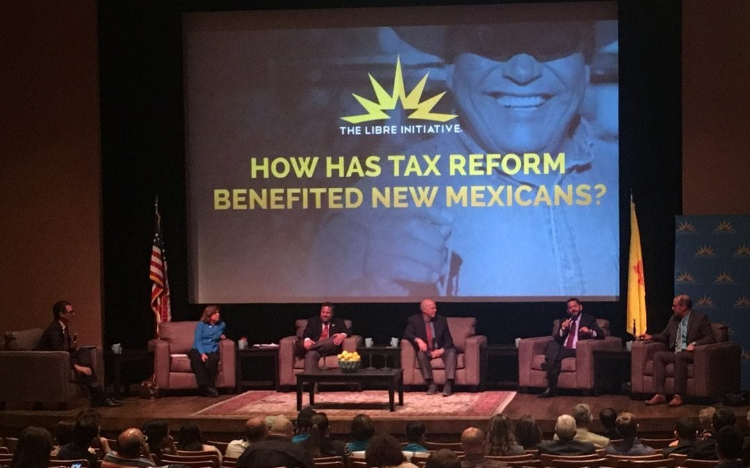 RGF president Paul Gessing participates alongside Rep. Steve Pearce & Lt. Gov. Sanchez on tax reform panel
