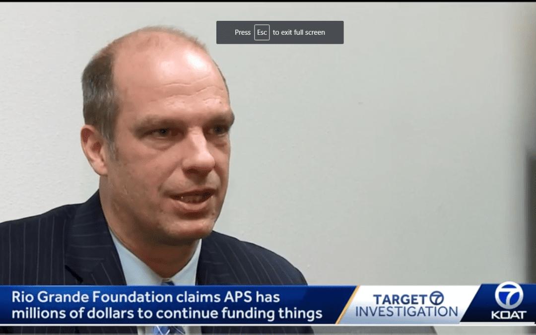 Questioning APS Maintenance Freeze on KOAT Channel 7