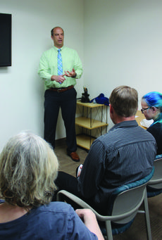 Press clips from post-session talk in Los Alamos